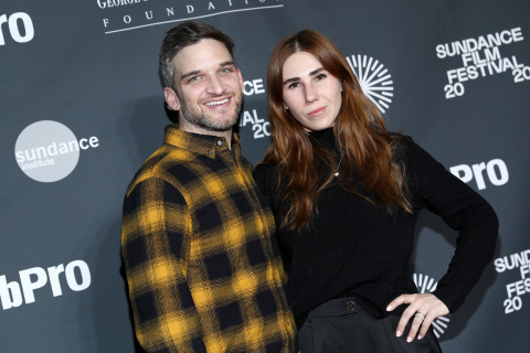 PARK CITY, UTAH - JANUARY 23: Evan Jonigkeit and Zosia Mamet attend Sundance Institute's 'An Artist at the Table Presented by IMDbPro' at the 2020 Sundance Film Festival on January 23, 2020 in Park City, Utah. (Photo by Rich Polk/Getty Images for IMDbPro)