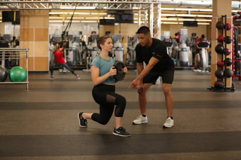 24 Hour Fitness Personal Trainer Workout with Club Member