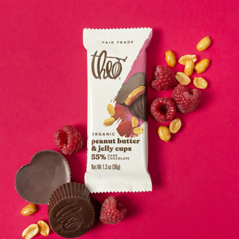 Theo Chocolate's Peanut Butter & Jelly cups (Photo: Business Wire)