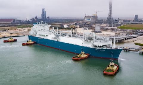 Cheniere's 1000th cargo on the vessel Hoegh Galleon (Photo: Business Wire)