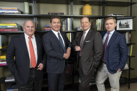 (L to R) John Cooper, Jim Stormont, W. Allen Morris, and Spencer Morris. (Photo: Business Wire)