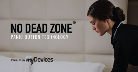 myDevices' No Dead Zone Panic Button Solution (Graphic: Business Wire)