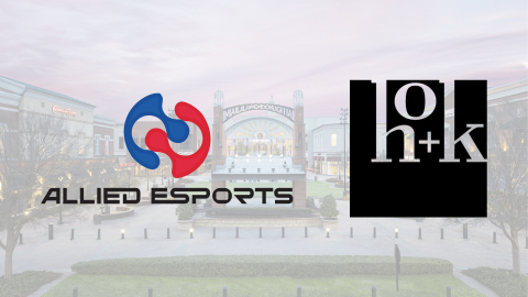 Allied Esports and HOK will partner to design on-mall esports venues. (Graphic: Business Wire)