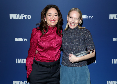 PARK CITY, UTAH - JANUARY 27: Liz Garbus of 'Lost Girls' presents an IMDb STARmeter Award to Amy Ryan of 'Lost Girls' at IMDb's 30th Anniversary Dinner at The Sundance Film Festival on January 27, 2020 in Park City, Utah. (Photo by Rich Polk/Getty Images for IMDb)