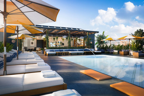 The rooftop pool area of The Shay, A Destination Hotel, which is expected to open in Fall 2020. (Photo: Business Wire)
