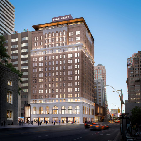 Exterior view of the redesigned Park Hyatt Toronto, which is expected to reopen in October 2020. (Photo: Business Wire)