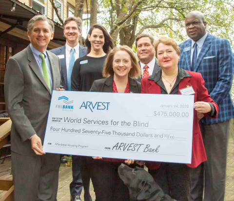 Congressman French Hill joined representatives from FHLB Dallas and Arvest Bank to contribute $475K in Affordable Housing Program funds to World Services for the Blind to renovate 51 residential units in their aging facility. (Photo: Business Wire)