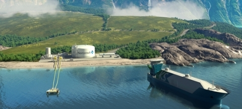 With Kanfer Shipping, AG&P has added a patented ATB, used for breaking bulk cargoes of LNG, to its suite of lower capital solutions. The shallow-draft vessel efficiently transports LNG to and from an FSU, FSRU, LNGC or land-based LNG terminals and delivers LNG to drop-points on islands, up rivers and along coasts. (Photo : Business Wire)