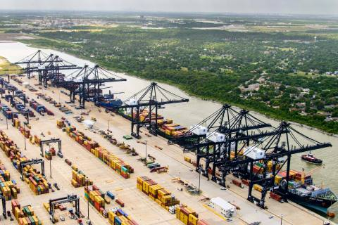 Port Houston's Bayport Container Terminal. Port Houston set an all-time high container record in 2019. (Photo: Business Wire)