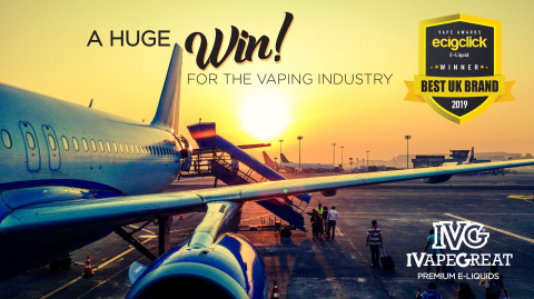 IVG in UK Duty Free and Winner of 'Best UK Brand' (Photo: Business Wire)
