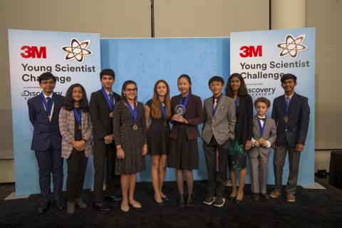 """Each year, ten finalists are chosen to compete for the title of """"America's Top Young Scientist."""" (Photo: 3M)"""