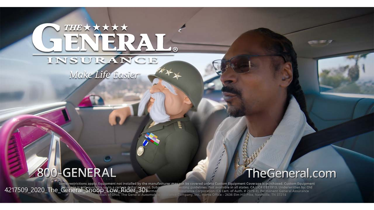 The General Insurance teams up with Snoop Dogg for latest ad campaign.
