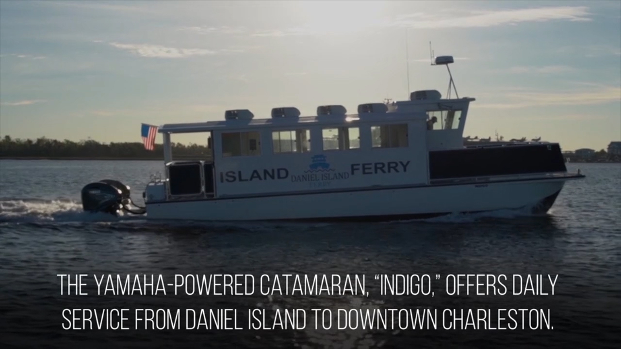 Charleston Water Taxi co-owner Chip Deaton, who logged between 6,800 and 10,000 trouble-free hours with Yamaha F150 and F200 outboards, chose Yamaha V8 XTO Offshore® outboards for the 40-passenger Daniel Island Ferry.