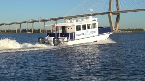 Charleston Water Taxi co-owner Chip Deaton, who logged between 6,800 and 10,000 trouble-free hours with Yamaha F150 and F200 outboards, chose Yamaha V8 XTO Offshore® outboards for the 40-passenger Daniel Island Ferry. (Photo: Business Wire)