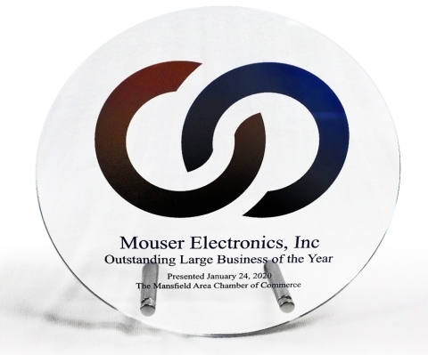 Mouser Electronics has been named the 2019 Outstanding Large Business of the Year by the Mansfield Area Chamber of Commerce. This is the second time for Mouser to receive this top award. (Photo: Business Wire)