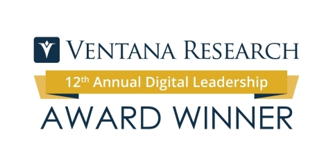 TIBCO is awarded the Ventana Research Big Data Digital Leadership Award. (Graphic: Business Wire)