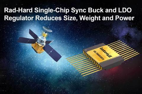 Rad-hard single-chip sync buck and LDO regulator reduces size, weight and power (Graphic: Business Wire)