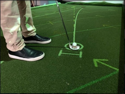 See the Putt Path from Actual Green Data (Photo: Business Wire)