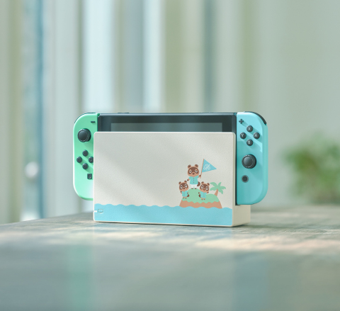 On March 13, a special edition Animal Crossing themed Nintendo Switch system will be available in stores at a suggested retail price of $299.99. (Photo: Business Wire)