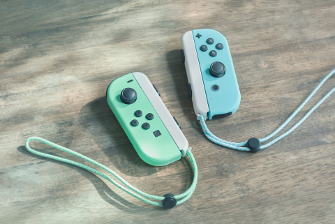 The special edition system takes design inspiration from the new game, Animal Crossing: New Horizons (sold separately), with lovely pastel green and blue Joy-Con controllers that are white on the back, white wrist straps and a white Nintendo Switch dock, adorned with images of recognizable characters Tom Nook and Nooklings Timmy and Tommy. (Photo: Business Wire)