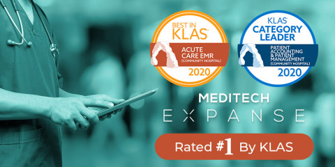MEDITECH Expanse Awarded Best in KLAS for Acute Care EMR and Category Leader for Community Patient Accounting (Photo: Business Wire)