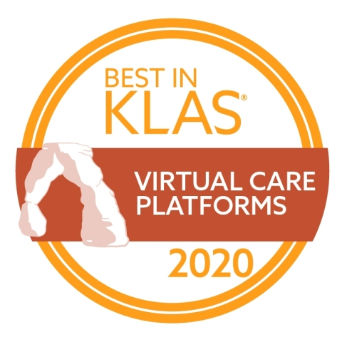 2020 Best in KLAS for Virtual Care Platforms (Graphic: Business Wire)