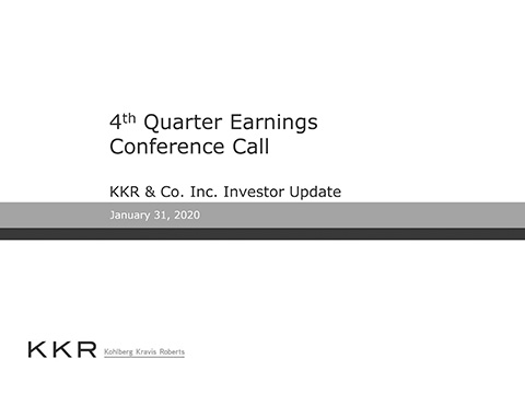 KKR Q4'19 Supplemental Operating and Financial Data