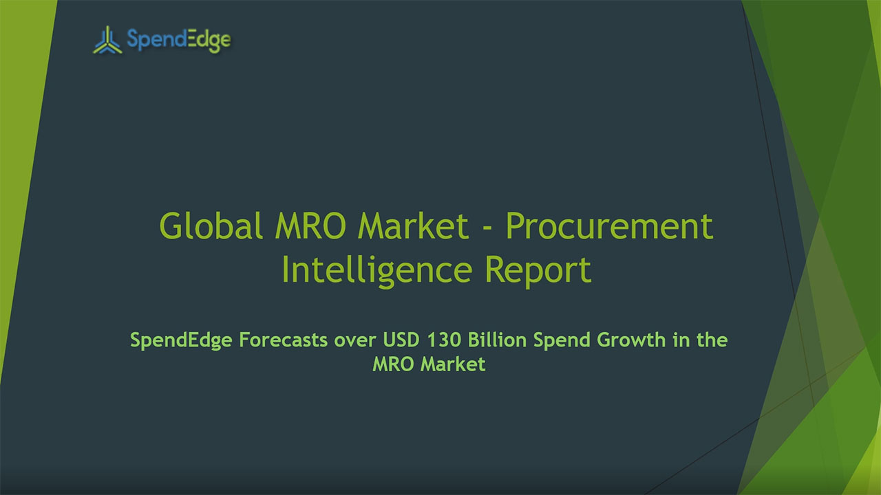 SpendEdge, a global procurement market intelligence firm, has announced the release of its Global MRO Market - Procurement Intelligence Report. (Graphic: Business Wire)