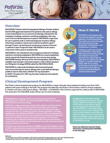 PALFORZIA™ [Peanut (Arachis hypogaea) Allergen Powder-dnfp] Fact Sheet