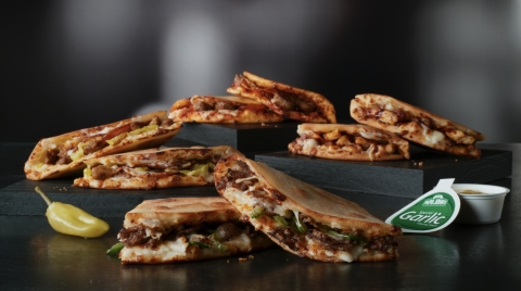 Take a break from the traditional sandwich routine with one of the four varieties of Papadia from Papa John's. (Photo: Business Wire)