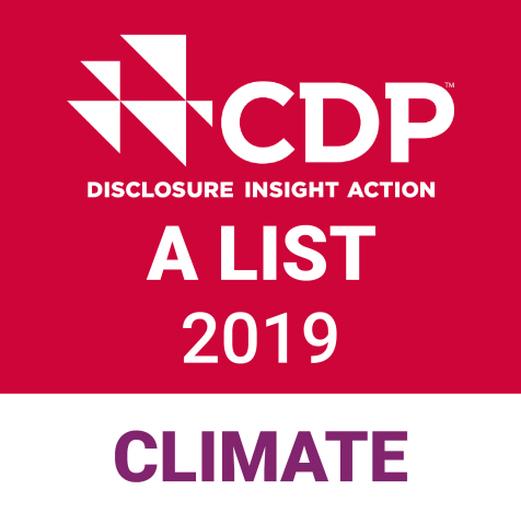 CDP Climate Change A List Stamp (Graphic: Business Wire)