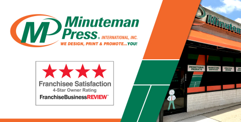 Based directly on franchisee feedback, independent franchisee satisfaction firm Franchise Business Review has awarded Minuteman Press as one of the Top Franchises of 2020. (Photo: Business Wire)