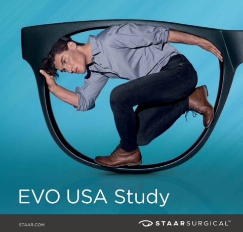 If you suffer from nearsightedness or astigmatism, the EVO Investigational lens is designed to improve your distance vision without glasses or contact lenses. (Photo: Business Wire)