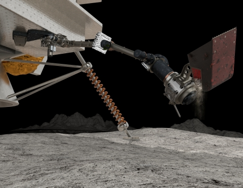 Maxar has been selected by NASA to deliver SAMPLR, a robotic arm that will be used to explore the Moon. (Image: Maxar Technologies)