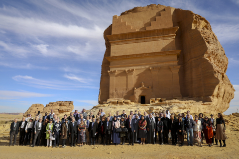 A gathering of Nobel Laureates and prominent global thought leaders is currently taking place at the UNESCO World Heritage Site of Hegra in the Kingdom of Saudi Arabia © Hegra Conference of Nobel Laureates 2020