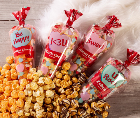 Valentine Hearts popcorn Mini Cones are the perfect go-to Valentine's Day gift, whether you are hosting a Valentine's party or handing them out to schoolmates or to co-workers. (Photo: Business Wire)