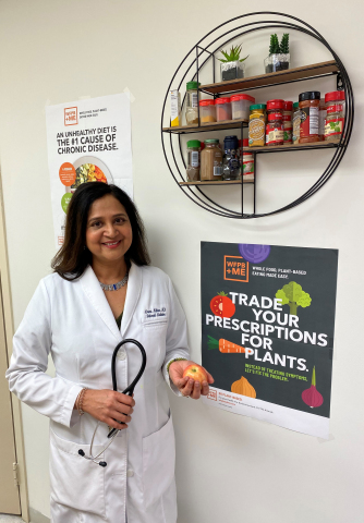Dr. Aruna Nathan, Internal and Lifestyle Medicine Physician in Kensington, Maryland teaches her patients to view food as fuel. (Photo: Business Wire)