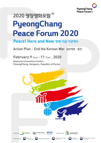 """The PyeongChang 2018 Legacy Foundation will hold PyeongChang Peace Forum 2020 at PyeongChang Alpensia Convention Center in Gangwon Province from Feb. 9 to 11. PyeongChang Peace Forum 2020 is a global forum led by peace creators and peace builders involved in sports and sustainable development. It will proceed under the slogan of """"Peace! Here and Now."""" """"Action: End the Korean War"""" is the topic of the forum which will review and discuss concrete action plans for peace. It has four main themes: Sports, Economy, DMZ Peace Zone, and UN SDGs. The forum will focus on specific action plans for peace, such as the new economic development plan for the Korean Peninsula and the DMZ Peace Zone, particularly because inter-Korean peace and trust are closely connected with regional peace and stability. (Graphic: Business Wire)"""