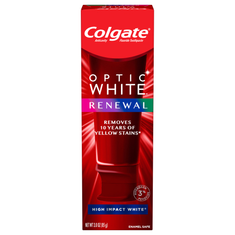 The new Colgate Optic White Renewal Toothpaste (Photo: Business Wire)