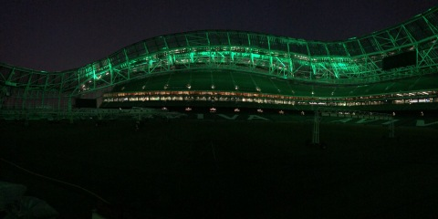 Aviva Stadium took its entertainment experience to the next level by installing Musco's LED system. (Photo: Business Wire)