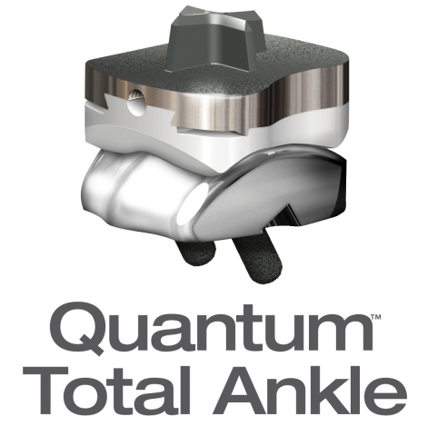 Quantum™ Total Ankle is the new total ankle replacement system for patients who suffer from arthritis. It's designed to improve patient mobility and increase stability with technologically advanced implant placement based on patient-specific anatomy. (Photo: Business Wire)