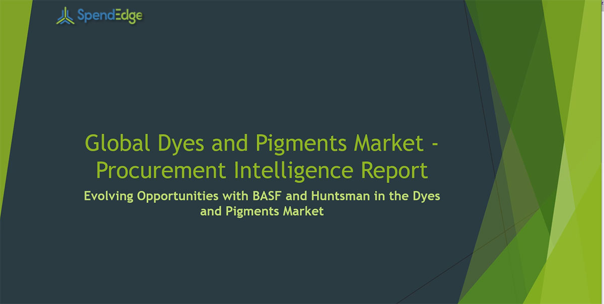 SpendEdge, a global procurement market intelligence firm, has announced the release of its Global Dyes and Pigments Market - Procurement Intelligence Report.