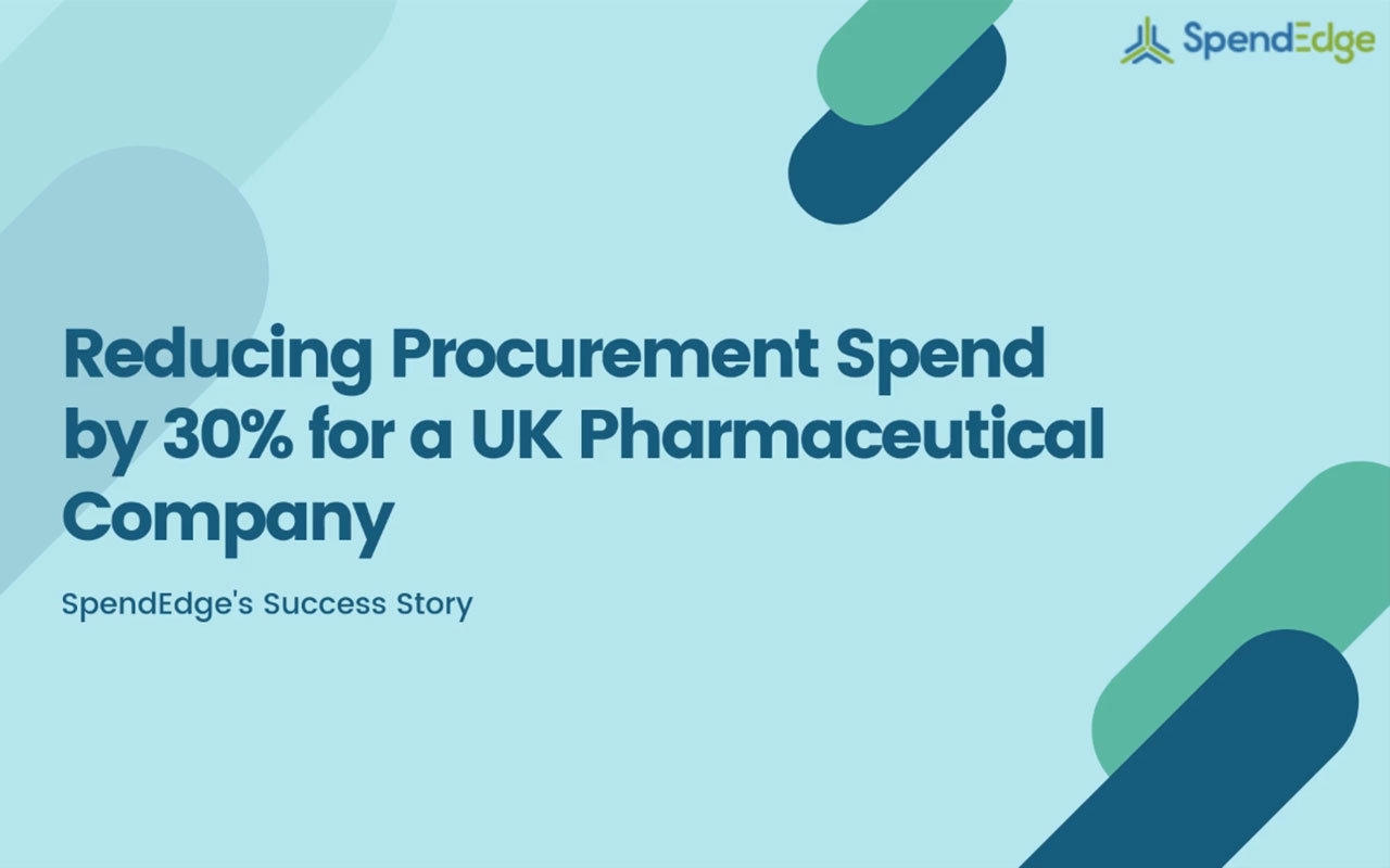 Reducing Procurement Spend by 30% for a UK Pharmaceutical Company. (Graphic: Business Wire)