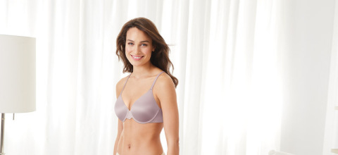 """The new Bali DreamWire collection offers """"no poke, no dig comfort"""" with more coverage for full-figure women. The offering from Bali, the leading national brand in mid-tier and department stores, builds on the success of Hanes DreamWire T-shirt bra and Maidenform DreamWire push-up bra. (Photo: Business Wire)"""