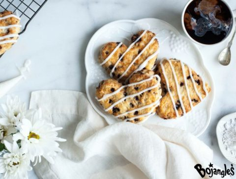 Bojangles' limited-time Heart-Shaped, Bo-Berry Biscuits. (Photo: Bojangles')