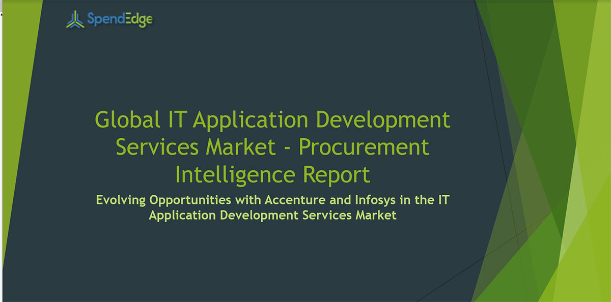 SpendEdge, a global procurement market intelligence firm, has announced the release of its Global IT Application Development Services Market - Procurement Intelligence Report.
