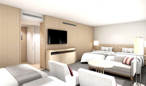 Keio Plaza Hotel Tokyo is renovating guest rooms on the 31st floor of the Main Tower to reopen quadruple guest rooms on March 29, 2020. (Photo: Business Wire)