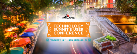 McLane's Technology Summit and User Conference kicks off today in San Antonio. (Graphic: Business Wire)