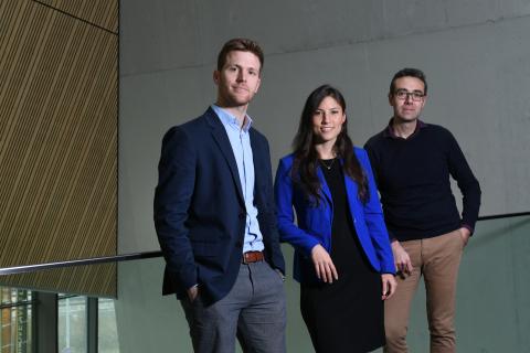 Lunaphore founders: Diego Dupouy, Déborah Heintze, Ata Tuna Ciftlik. Photo: Lunaphore