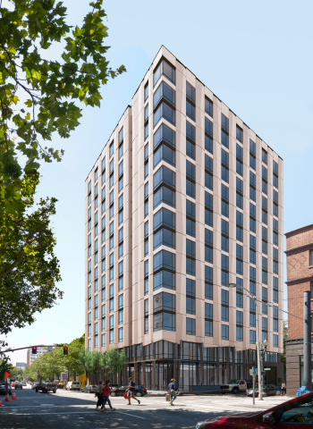 Exterior of Hyatt Centric Downtown Portland (Photo: Business Wire)